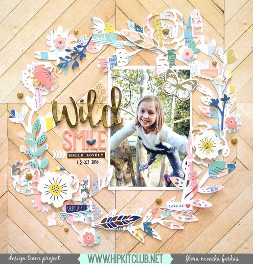 Fall wreath scrapbook layout original