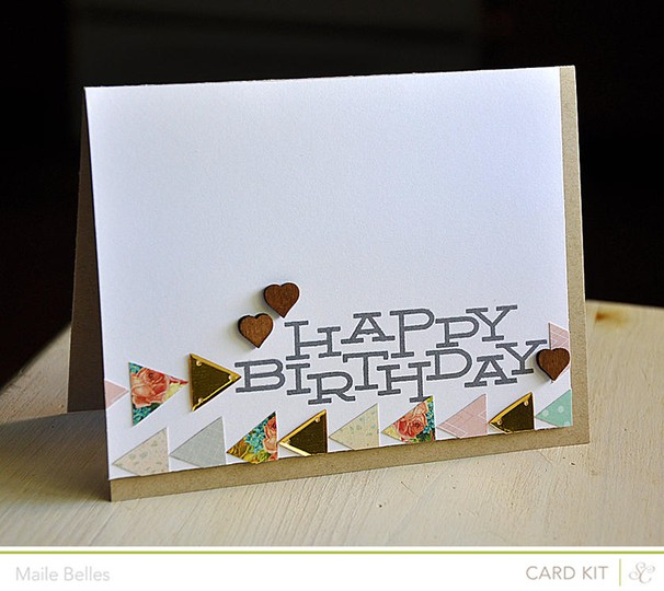 Triangle happy birthday card (coconut grove  outerbanks   cumberland gap add ons)