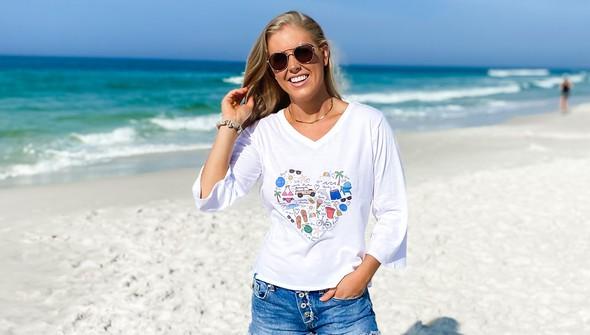 152480 beach love by callie danielle v neck bell sleeve women white slider1 original