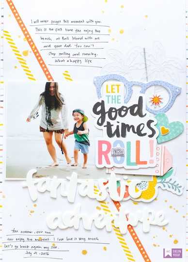 Fantastic adventure american crafts amy tangerine happy life full layout by evelynpy original