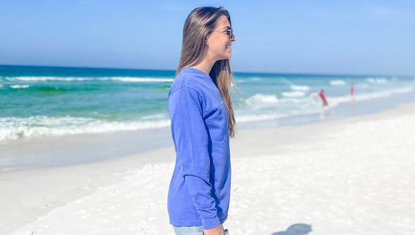 154117  simple beach happy comfort colors long sleeve tee wome flo blue slider3 original