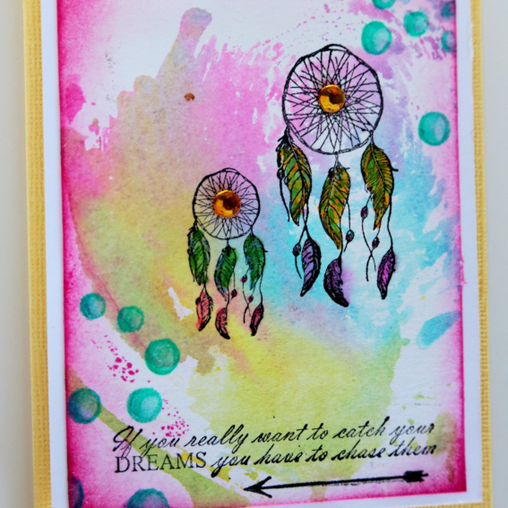 Easter card 2 watercolour dreamcatcher card original