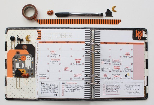 October planner original