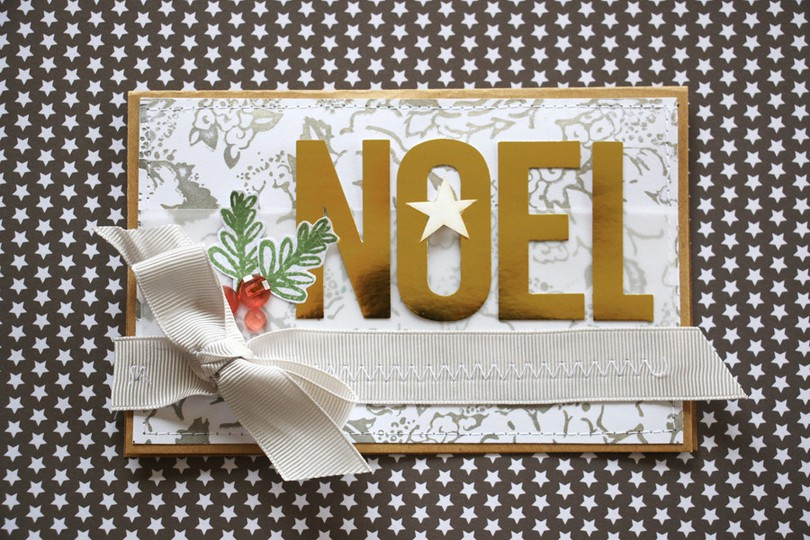 Noel card on star paper