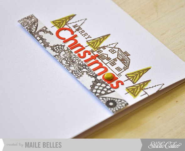 Merry christmas card detail