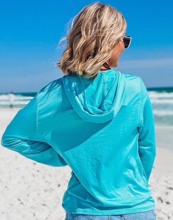 152539  beach happy hooded sun shirt seafoam women slider 5 original