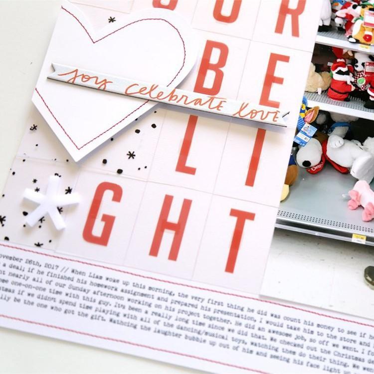 Pam baldwin northern lights scrapbook let your heart be light detail original