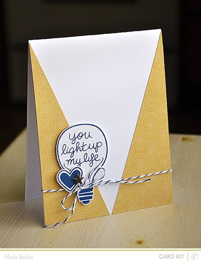 You light up my life card (card kit)
