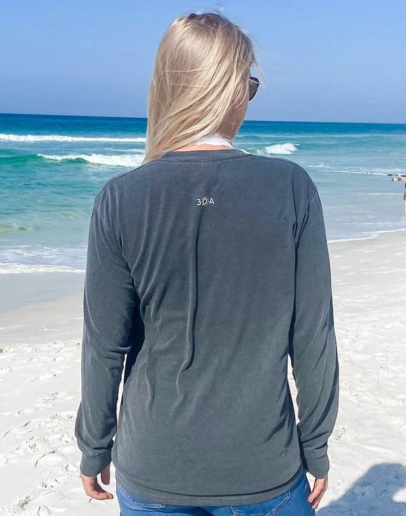 154099 simple beach happy comfort colors long sleeve tee pepper women slider 4 original