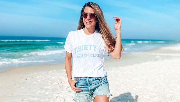 146337 thirtya beach club short sleeve tee women white slider2 original