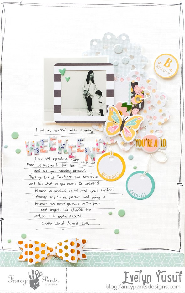 Hello weekend full layout by evelynpy original