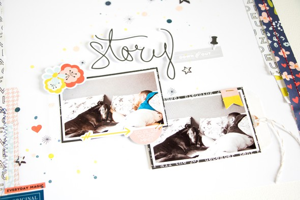 Story scatteredconfetti scrapbooking layout citrustwistkits december fancypants 2 original