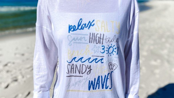129166  beachy words long sleeve tee women white slider3 original