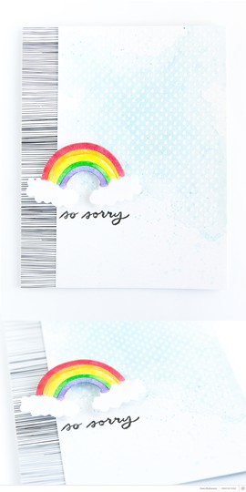 Card so sorry rainbow pixnglue long original