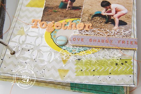 Marie nicolas alliot mini album mixed media prima marketing 8