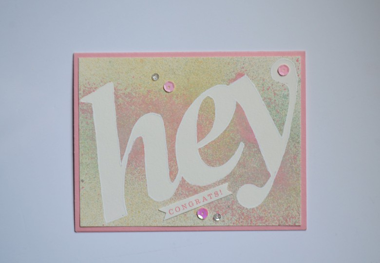 Hey congrats card original