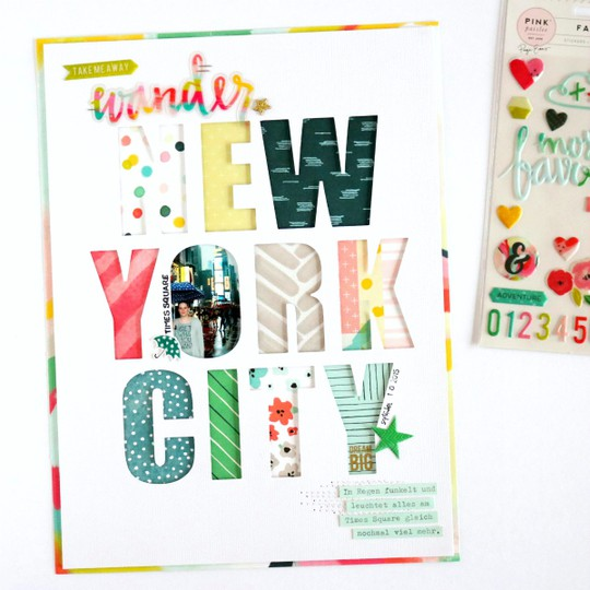 New york city scrapbooking layout 1 original