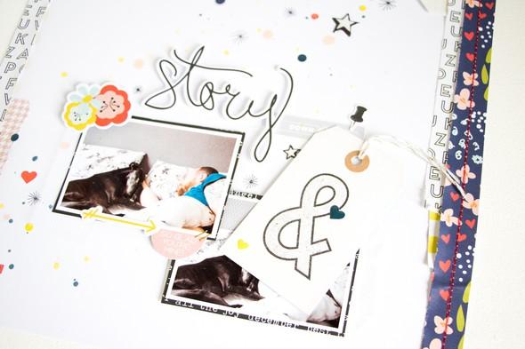 Story scatteredconfetti scrapbooking layout citrustwistkits december fancypants 5 original
