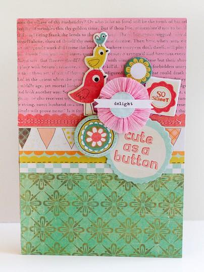 5   cute as a button card