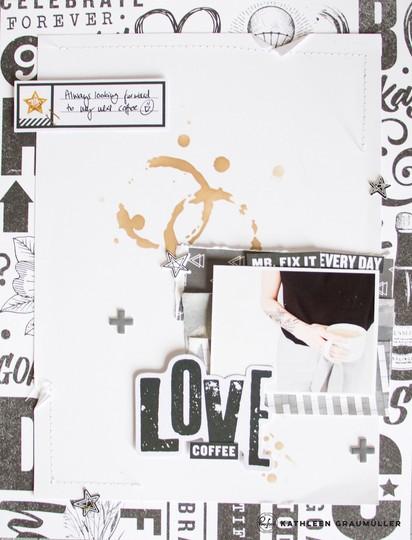 Coffeelove scatteredconfetti scrapbooking layout pinkfreshstudio boysfort bloghop 5 original