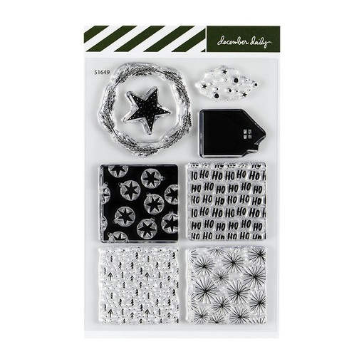 Picture of December Daily® 2019 Patterned Blocks 4x6 Stamp Set