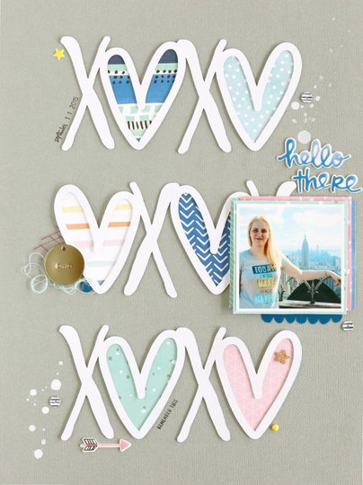 Xoxo scrapbooking layout 1 original