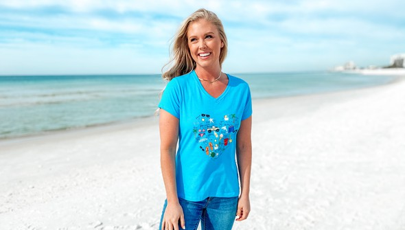 128994 beach love by callie danielle v neck tee women 30a blue slider2 original