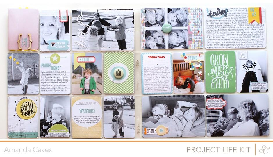 Studio calico project life week 2 fullspread