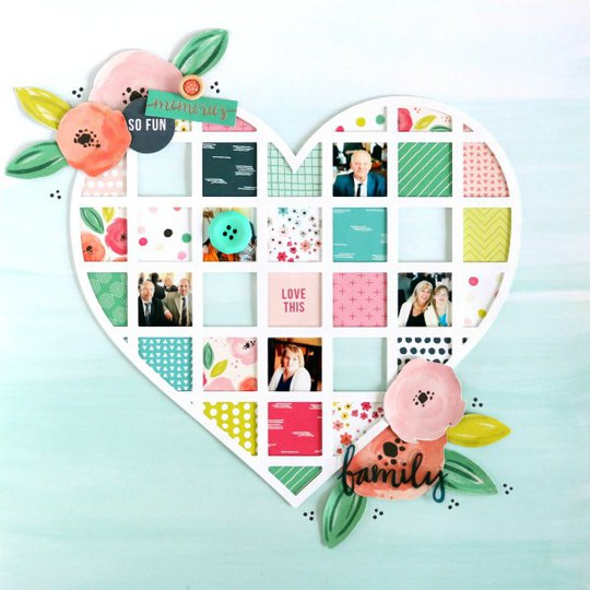 Family scrapbooking layout 1 original