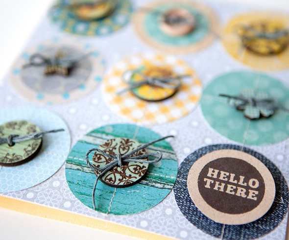 Hello there circles card   detail   susan weinroth