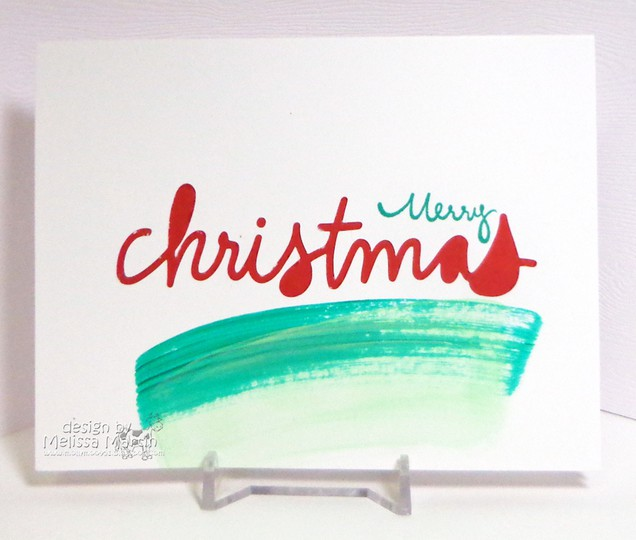Msm's christmas die cut paint plain dsc02998
