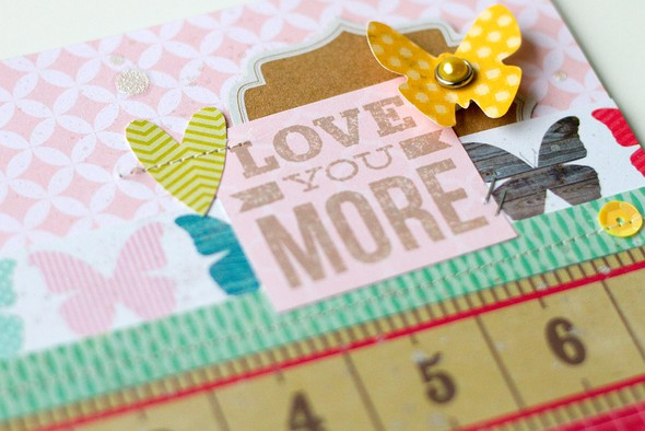 Love you more card   detail
