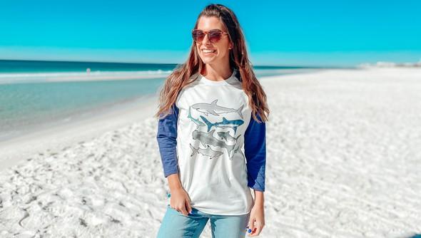 125303 watercolor sharks baseball tee cream navy slider1 original