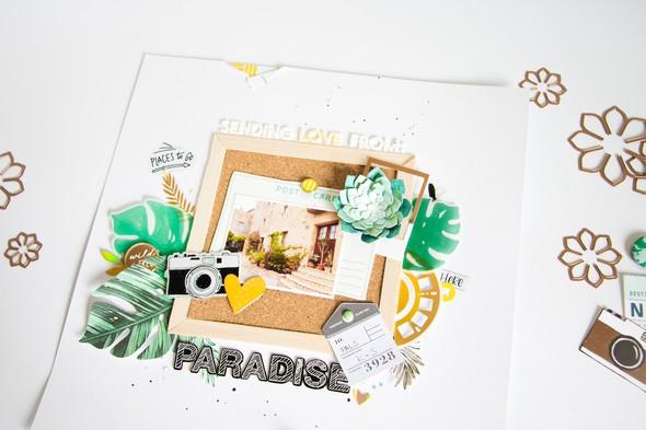 Paradise scatteredconfetti scrapbooking layout spellbinders 8 original
