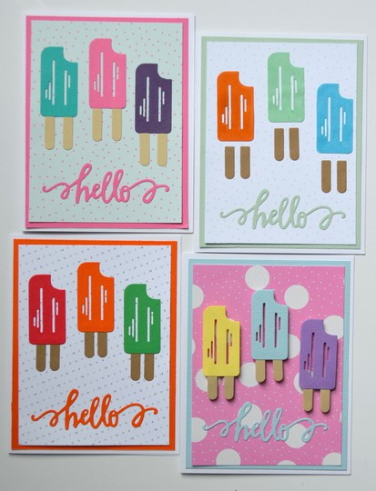 Popsicle hello cards original