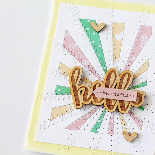 Elles studio hello beautiful card closeup by carson riutta