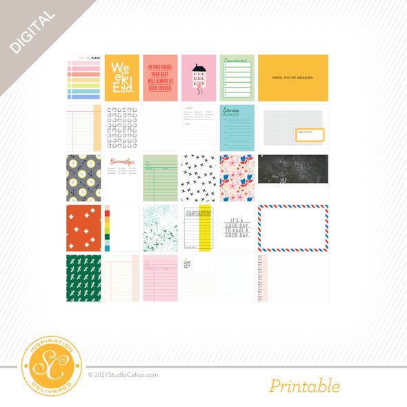 T13316 digital kindred spirits journal cards preview b original