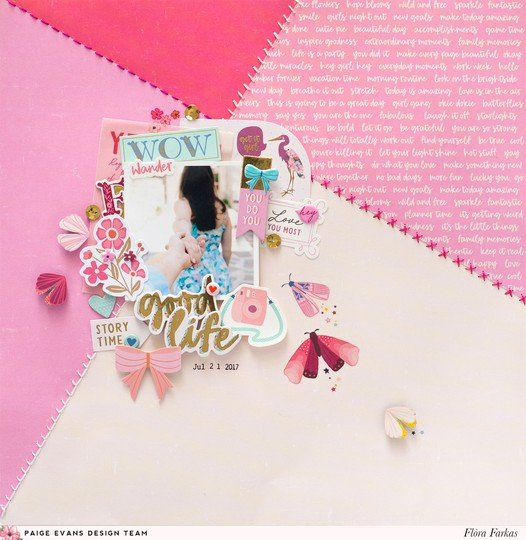 Pink pick me up page by flora 9x9 original