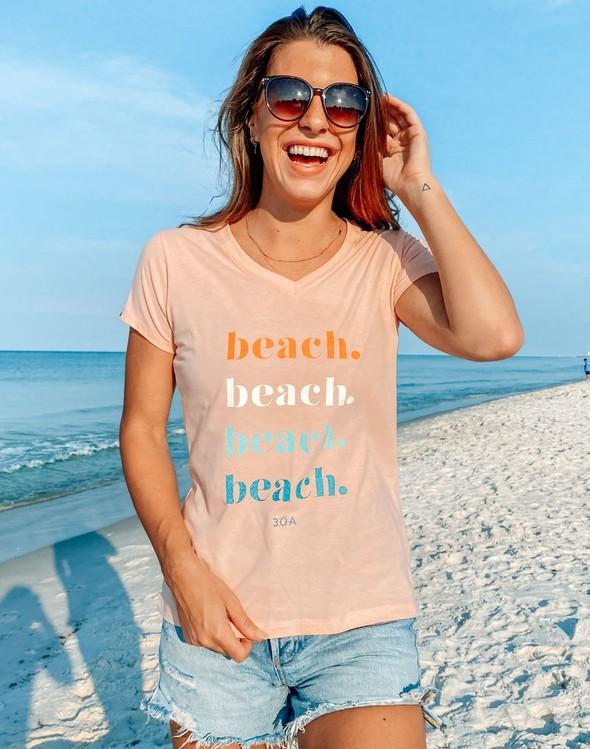 168207 beachrepeatvneckwomenpeach slider1 original