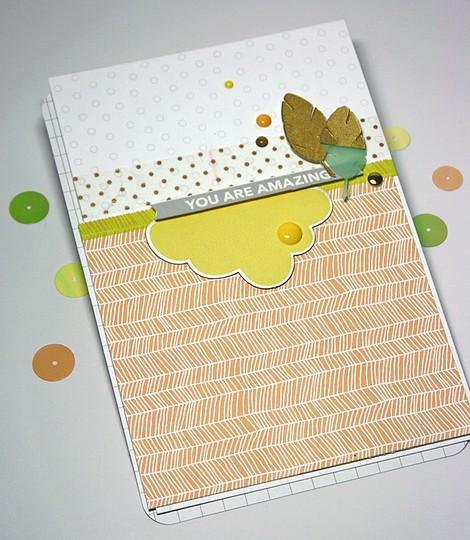 Amazing leaf card