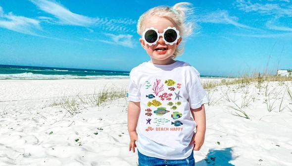 146563 beach happy under the sea short sleeve tee kids white slider1 original