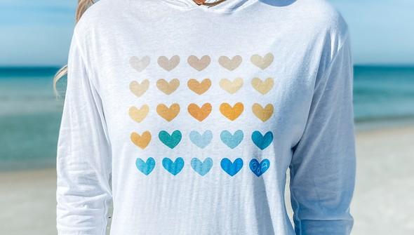 129448 heart grid pullover hoodie women white slider3 original