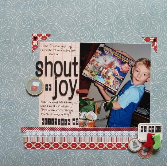 Shout of joy