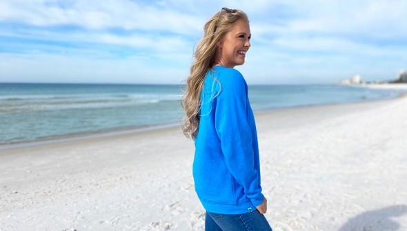 129402 life shines embroidered crew sweatshirt   women   30a blue slider6 original