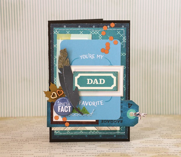 Favourite dad card by natalie elphinstone original