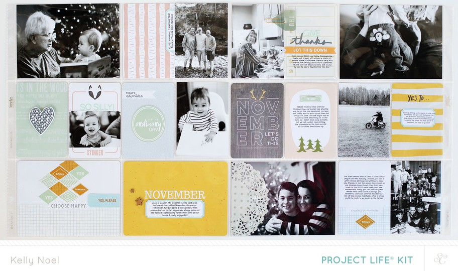 Project life nov 2013   kelly noel   studio calico's walden kit