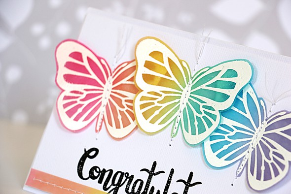 Congratulations butterflies by natalie elphinstone original