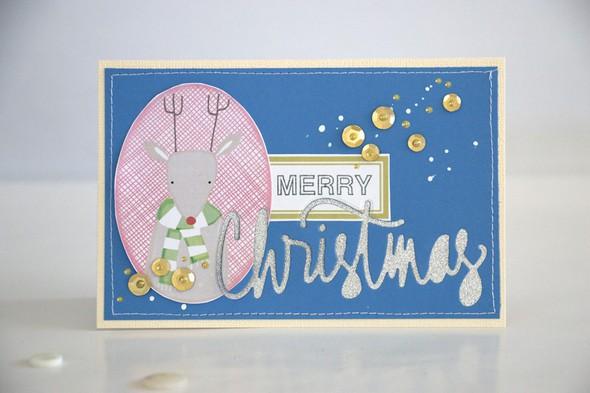 Merry card just reindeer