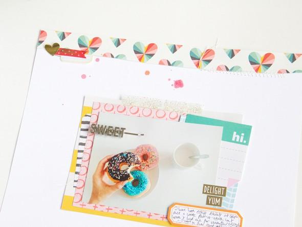 Sweet scrapbooking layout scatteredconfetti gossamerblue december 2 original