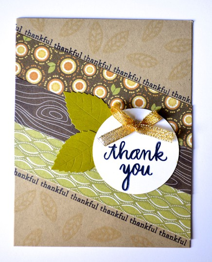 Thankful thank you card original